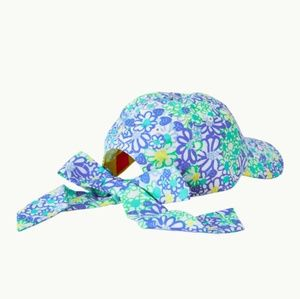 NWT Lilly Pulitzer In a Knot Hat Blue Haven Bianca